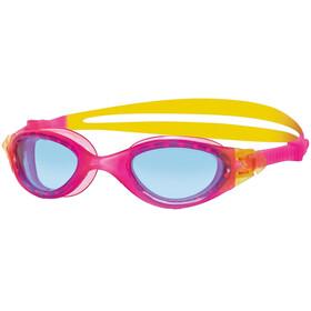 Zoggs Panaroma Goggle Juniors Pink/Yellow/Tint